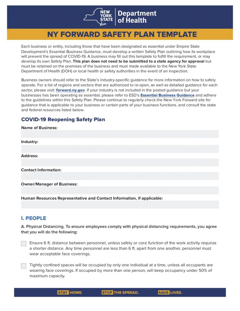 Department of Health Releases NY Foward Safety Plan ...